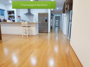 Champagne colour Bamboo floor Perth