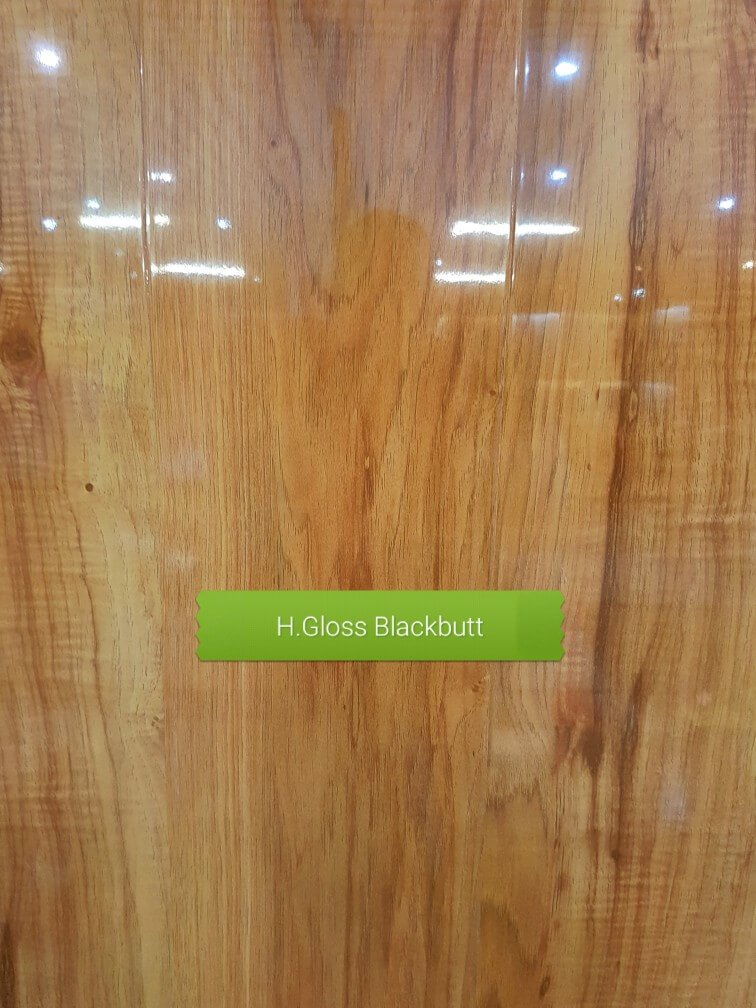 12mm High Gloss Blackbutt colour laminate floor F