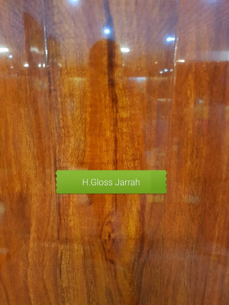 12mm High Gloss Jarrah colour laminate floor F