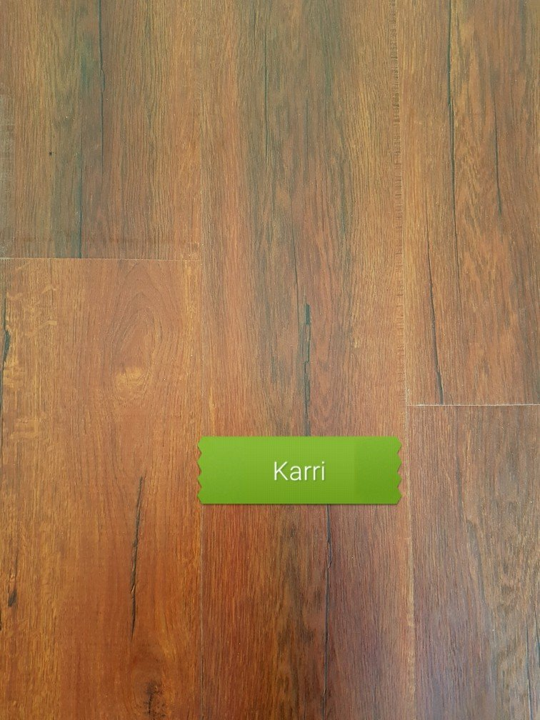 karri or jarrah colour laminate floor board