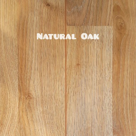 Natural Oak colour laminate floor