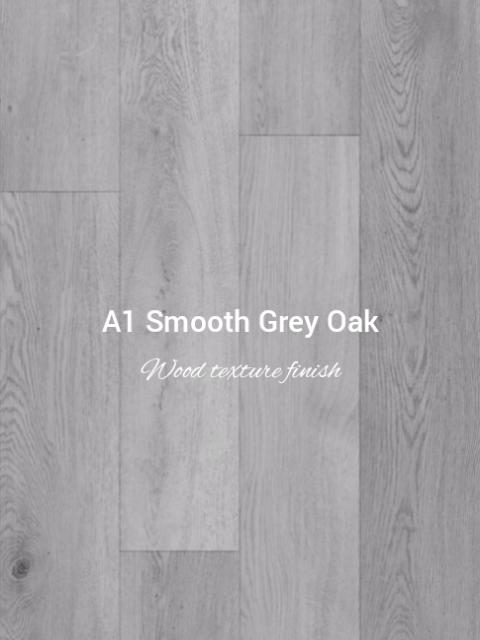 Smooth wood texture finish Grey Oak colour SPC
